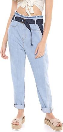 Dress To Calça Jeans Dress to Reta Patchwork Azul