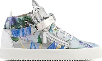 Giuseppe Zanotti Shooting mid-top sneaker with printed flowers SPRING