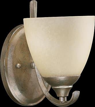 Quorum Powell 1 Light Wall/Bracket in Mystic Silver