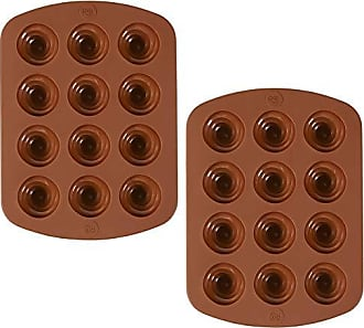 Wilton ROSANNA PANSINO by Wilton 12-Cavity Silicone Swirl Candy Molds, Multi-pack of 2