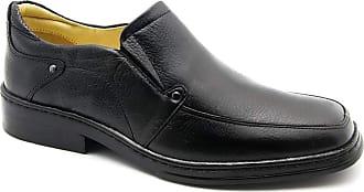 Doctor Shoes Antistaffa Sapato Masculino 910 em Couro Floater Preto Doctor Shoes-Preto-42