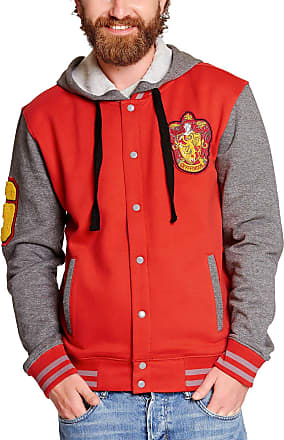 Harry Potter College Jacket with Hood Gryffindor Coat of arms of Elbenwald red Gray - XXL