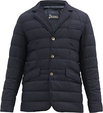 Herno Quilted-shell Hacking Jacket - Mens - Navy
