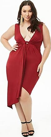 Forever 21 Plus Forever 21 Plus Size Twist-Front Tulip Dress Burgundy