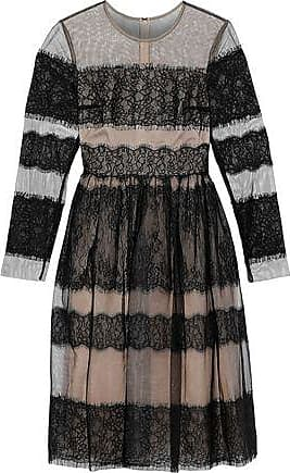 Mikael Aghal Mikael Aghal Woman Lace-paneled Tulle Dress Black Size 14