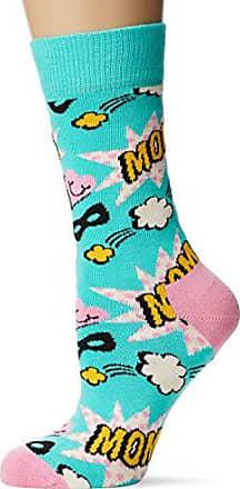 Multicolore Taglia Unica: 36-40 4//7 Multicolour 400 Happy Socks Dad Sock Calze Donna