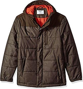 52008883639c Champion Mens Tech Herringbone Quilted Puffer with Hood