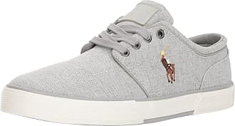Polo Ralph Lauren Mens Faxon Low Sneaker, Grey 2, 7 UK