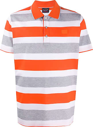 Paul & Shark Camisa polo listrada - Laranja