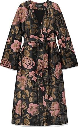 Etro Belted Metallic Jacquard Coat - Black