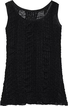 Dolce & Gabbana Dolce & Gabbana Woman Satin-trimmed Ruched Lace Tank Black Size 42