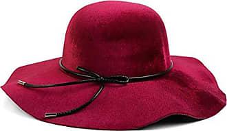 Hut Damen Floppy Fedora Filzhut mit schmalem Zierband und Schleife aus Filz