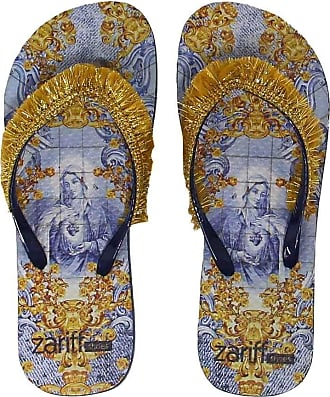 Zariff Chinelo Zariff Shoes Estampa Franjas