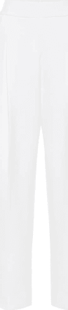 Oscar De La Renta High-rise wool-blend cady pants