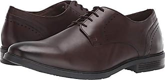 Hush Puppies Mens Advice PT Derby Oxford Dark Brown Leather 10.5 W US