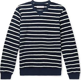Orlebar Brown Pierce Striped Cotton-terry Sweatshirt - Navy