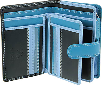 Visconti Multi Colour Soft Genuine Leather Purse/Wallet for Ladies - RB51 (Blue Multi)