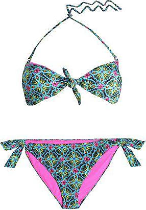 5f01c69de5 Matthew Williamson Matthew Williamson Woman Printed Triangle Bikini  Turquoise Size 10