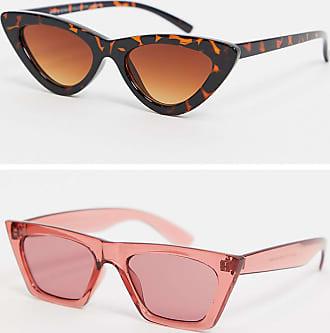 7X SVNX Flat Brow Cateye 2 Pack Sunglasses-Multi