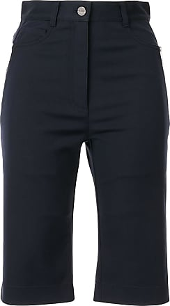 Dion Lee slim-fit shorts - Blue
