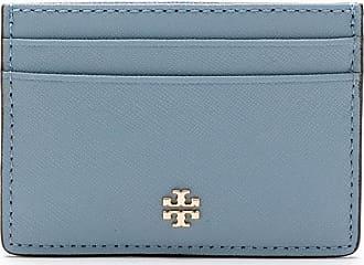 Tory Burch Porta-cartões Emerson com logo - Azul