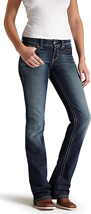 Ariat Womens R.E.A.L. Mid Rise Stretch Original Boot Cut Jeans in Spitfire Cotton, Size 28 X-Long, by Ariat
