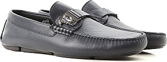 Versace Loafers for Men On Sale, Blue Navy, Leather, 2017, 10 11.5 9