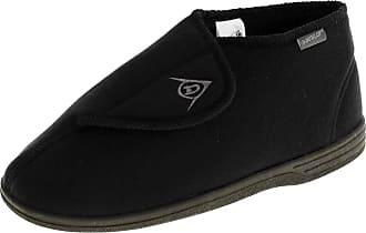 Footwear Studio Dunlop Mens Dmh7595 Black Adjustable Touch Fastening Orthopaedic Boot Slippers 10 UK