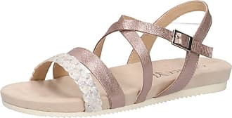 Caprice 28110-22 Women Strappy Sandals,Sandal,Strappy Sandals,Summer Shoes,Comfortable,Flat,(594) Soft Pink Comb,38 EU,38 EU