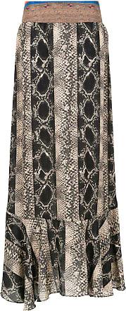Amir Slama printed long skirt - Black
