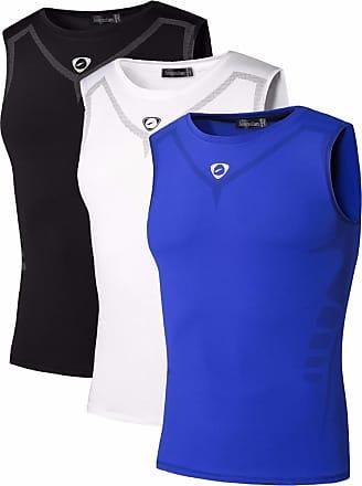 Jeansian Mens 3 Packs Sport Quick Dry Tank Tops Vests Shirt LSL207 PackA XL