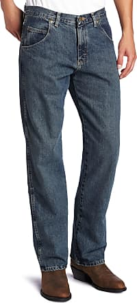 Wrangler Mens Big Rugged Wear Relaxed Straight-Fit Jean Jean - Blue - 44W x 32L