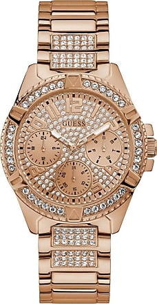 Acotis Limited Guess Watches Guess Ladies Rose Gold Crystals Glitz Dial Watch W1156L3