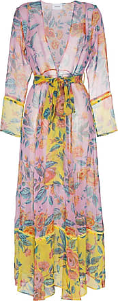 We are Leone Sheer floral robe - Rosa