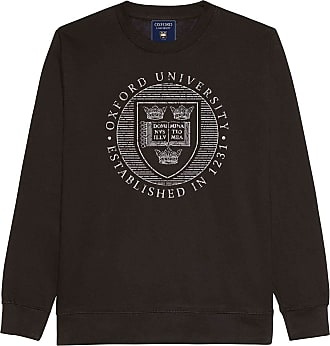 Oxford University Official Distressed Crest Sweatshirt - Black - Medium