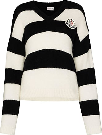 Moncler striped knitted jumper - Preto