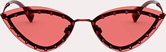 Valentino Valentino Occhiali Occhiale Triangolare In Metallo Con Borchie In Cristallo Donna Rosso 100% Fibra Metallizzata OneSize