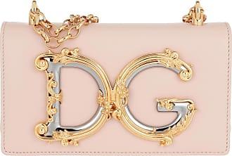 Dolce & Gabbana Crossbody Leather Cipria Umhängetasche rosa