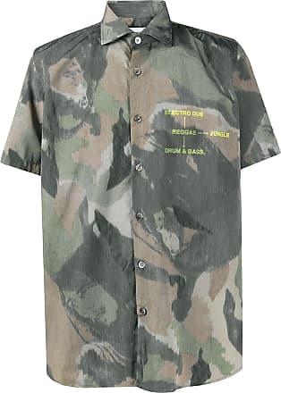 Department 5 Camisa com estampa camuflada - Verde