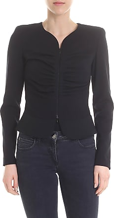 Emporio Armani Gathered and zipped jacket in black