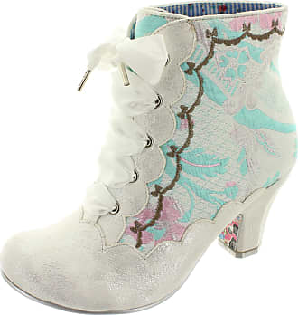 Irregular Choice Chinese Whispers 4405-01H Womens Ankle Boots White Size: 3.5 UK