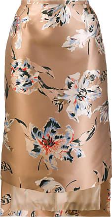 Rochas Saia com estampa floral - Neutro