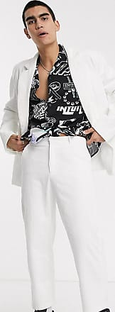 Collusion skater cord trousers in white