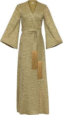 The Crocale Suzy Silk Wool Dress Green