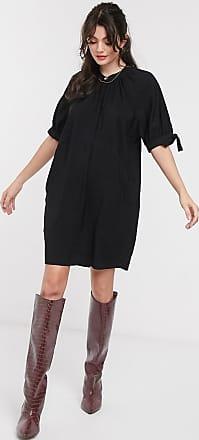 Whistles celestine mini dress in black