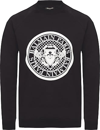 Balmain Branded Sweatshirt Womens Black
