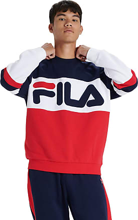 Fila Freddie Colour Block Crew Sweater X-Small 410 Peacoat/Chinese Red/White