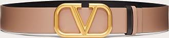 Valentino Garavani Valentino Garavani Cintura Reversibile Vlogo Signature In Vitello Lucido 40 Mm Donna Marrone Pelle Di Vitello 100% 100