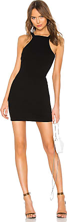 Alexander Wang Varigated Compact Jersey Dress in Black