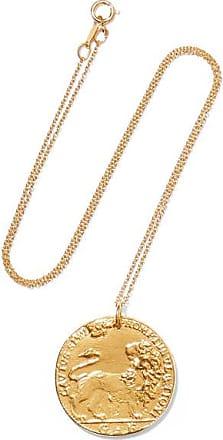 ALIGHIERI Il Leone Medallion Gold-plated Necklace